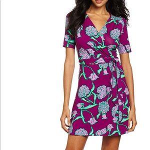 Lilly Pulitzer Arina hollyhock print wrap dress
